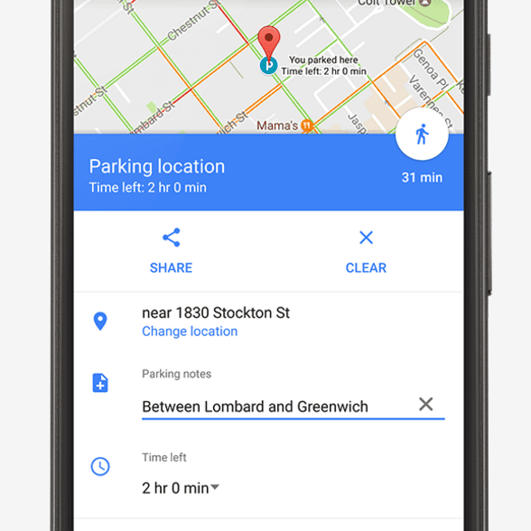 Save Where You Parked Your Care Using Google Maps