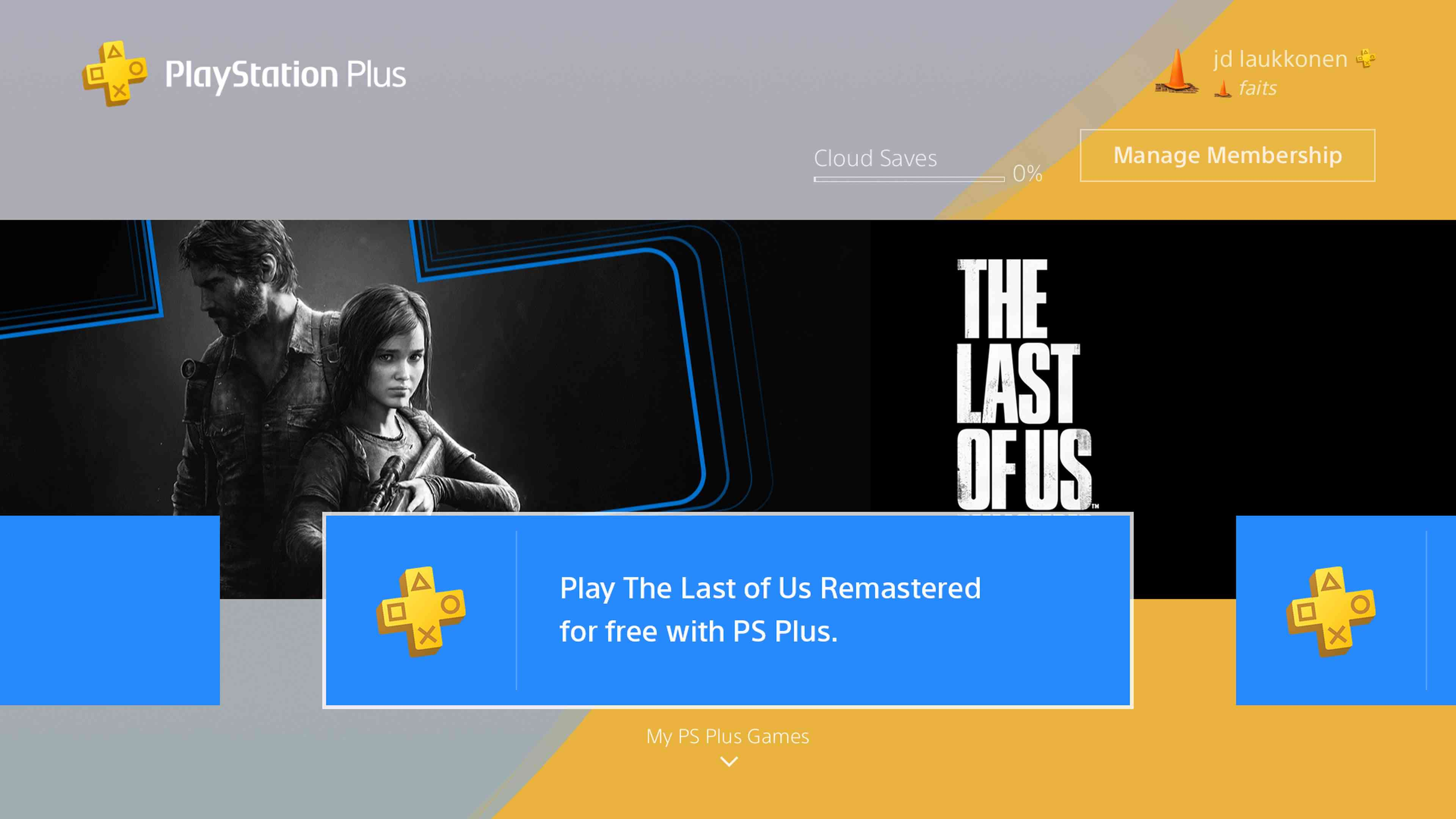 A screenshot of PS Plus free games.