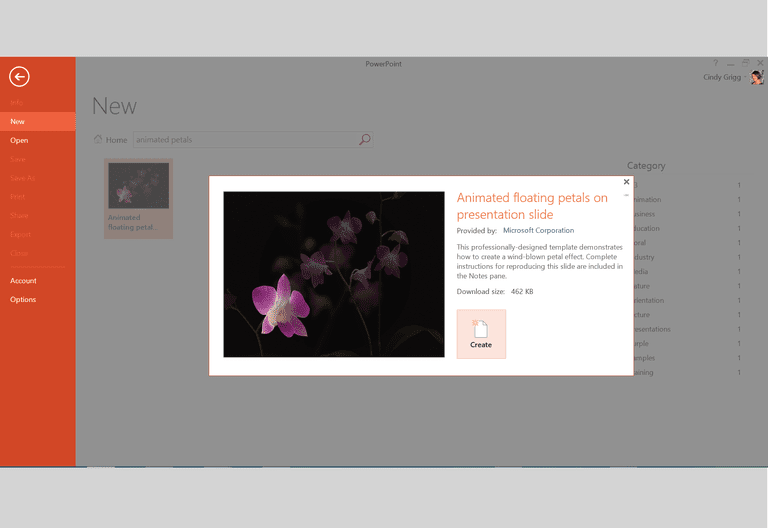 Microsofts best presentation templates for powerpoint animated floating flower petals presentation template for microsoft powerpoint toneelgroepblik Image collections