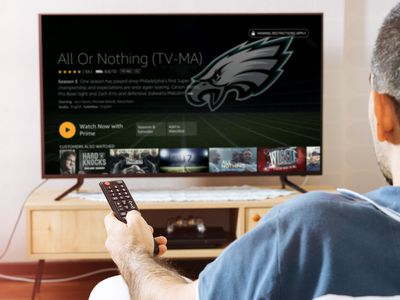 A man watches Amazon Prime sports on his television.