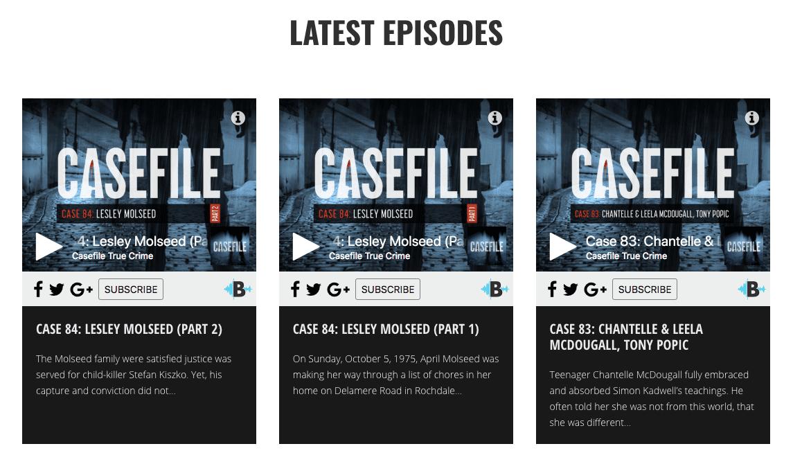 Casefile screenshot