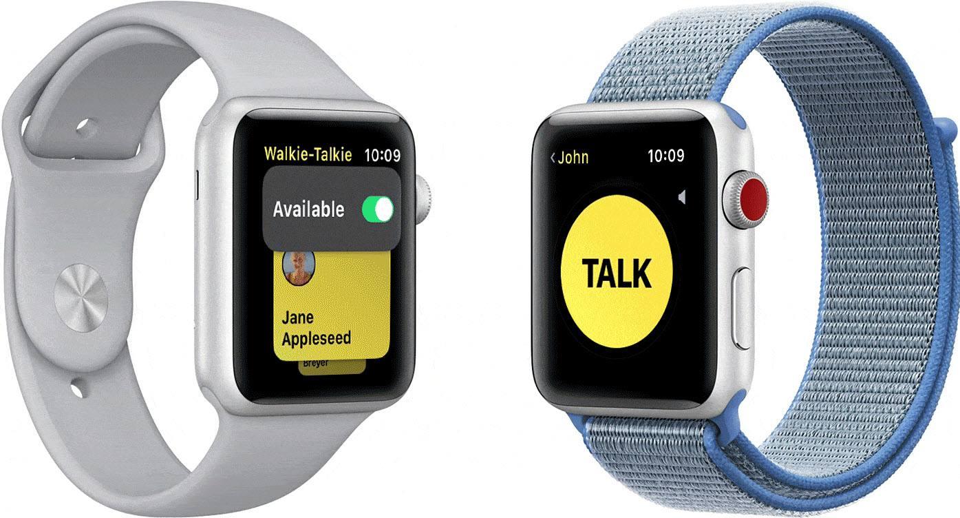 Apple Watch walkie talkie feature screenshot