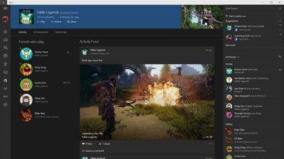 The Xbox app on Windows 10