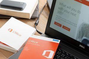 Microsoft Office software box