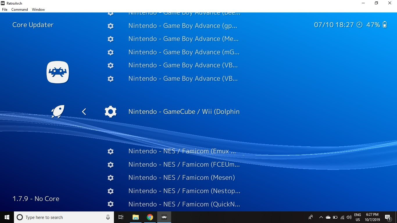 Scroll through the list and select the emulator(s) you want.