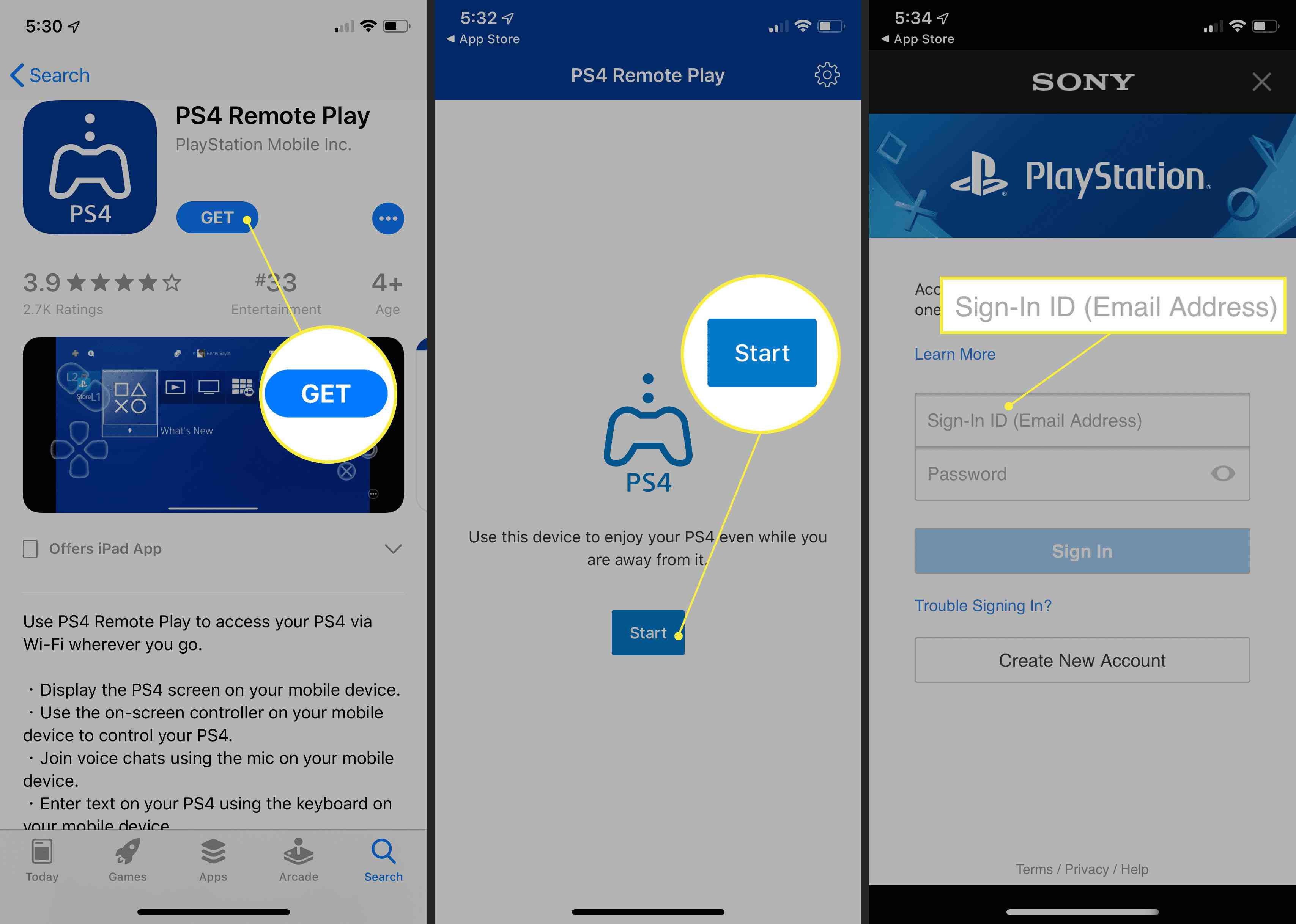 Downloading PS4 Remote Play for iPhone