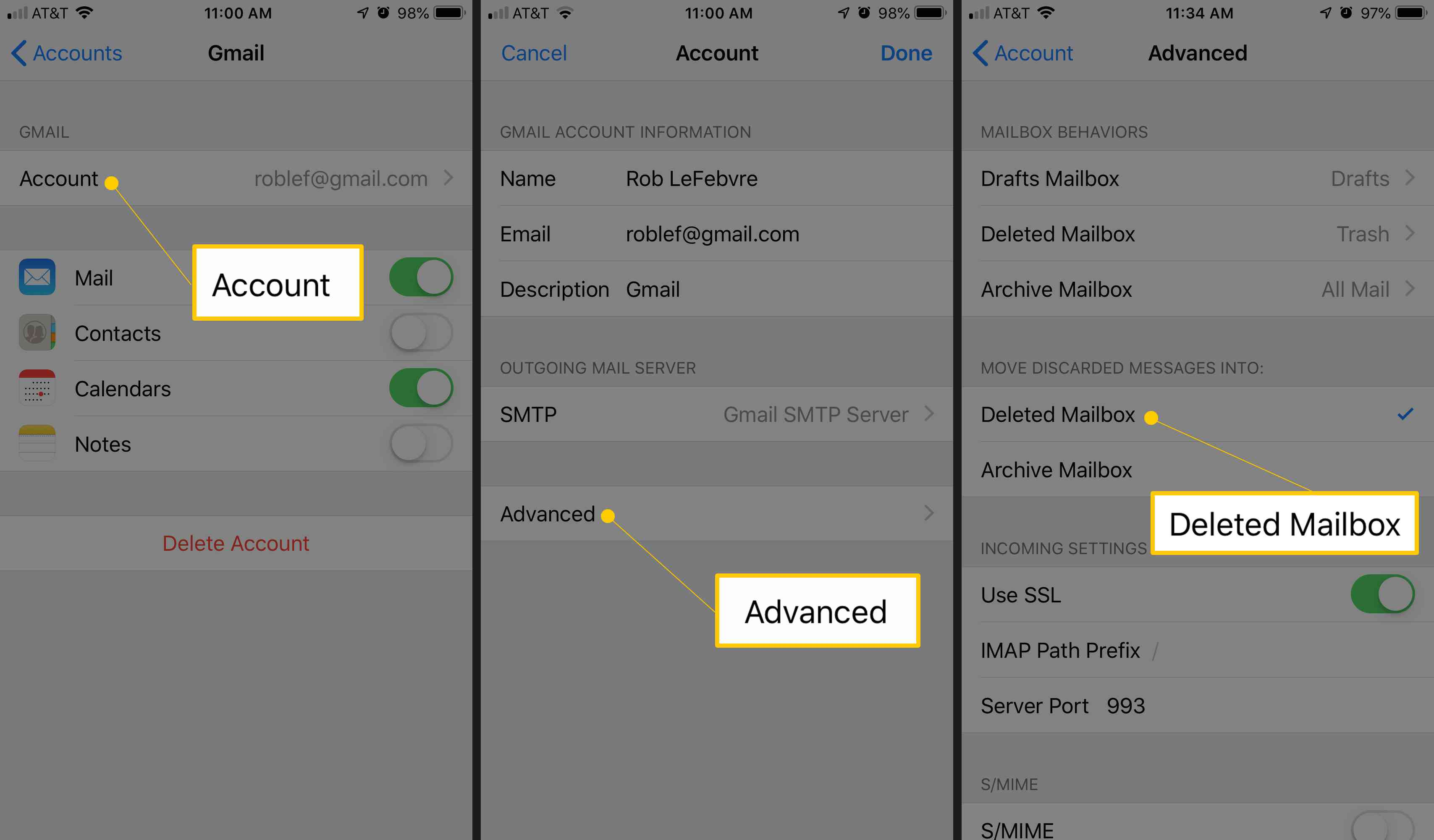 How To Get Archived Gmail >> How To Set Swiping To Delete Or Archive Gmail On Iphone