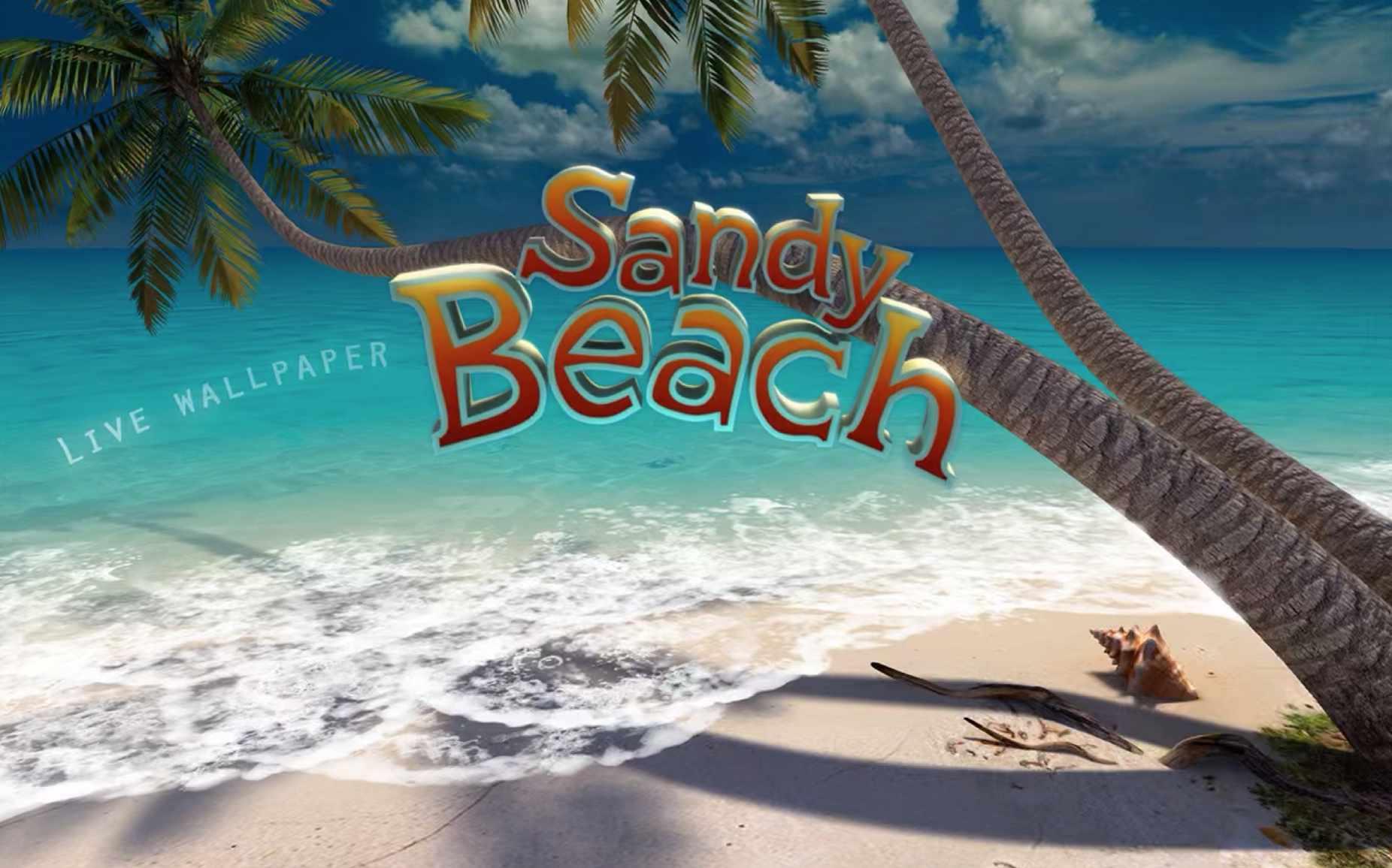 Sandy Beach live wallpaper for Mac