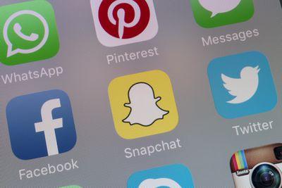 Snapchat App on cellphone screen
