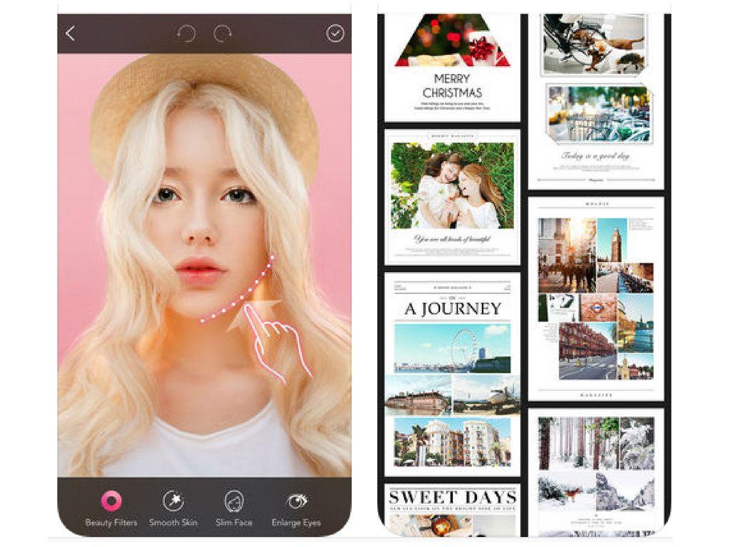 Screenshots of Moldiv app on an iPhone.