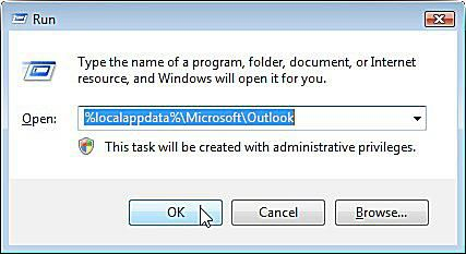 how to clear outlook cache windows 7