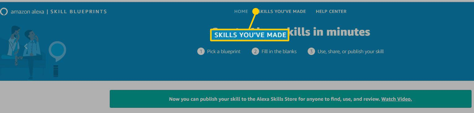 Screenshot showing Skills You've Made
