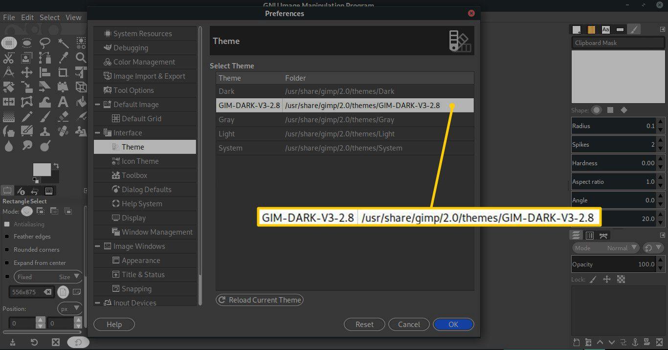 Archive in GIMP