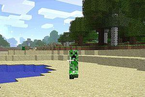 Creeper in Minecraft game