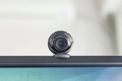 A webcam on top of a computer