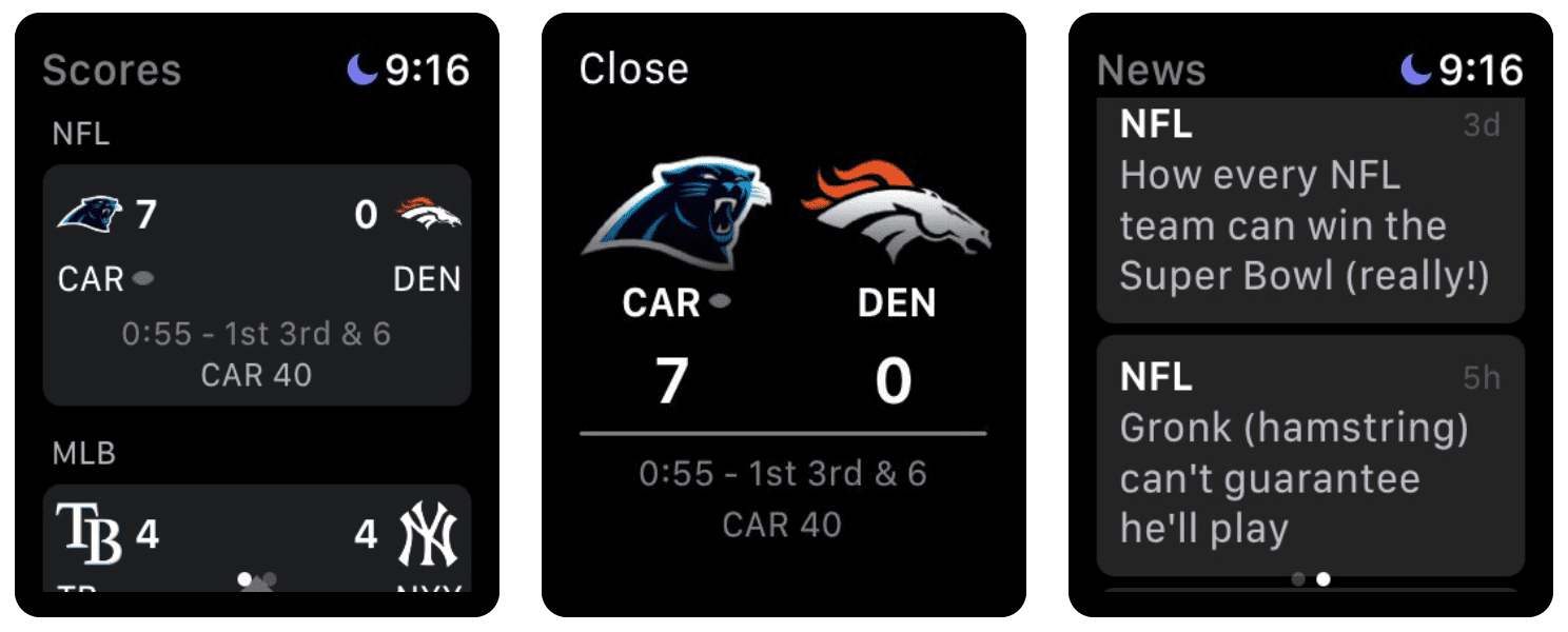 The ESPN Apple Watch app gives you information on your favorite teams with just a glance.