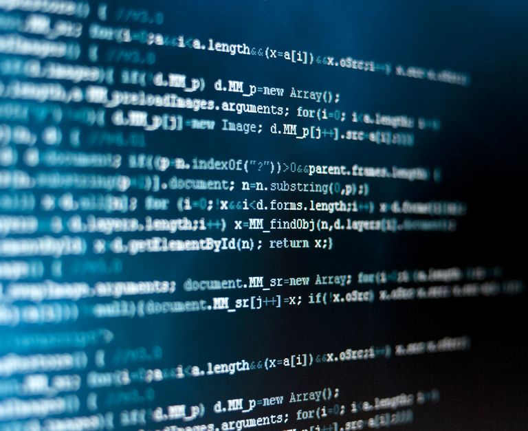 HTML code on dark screen