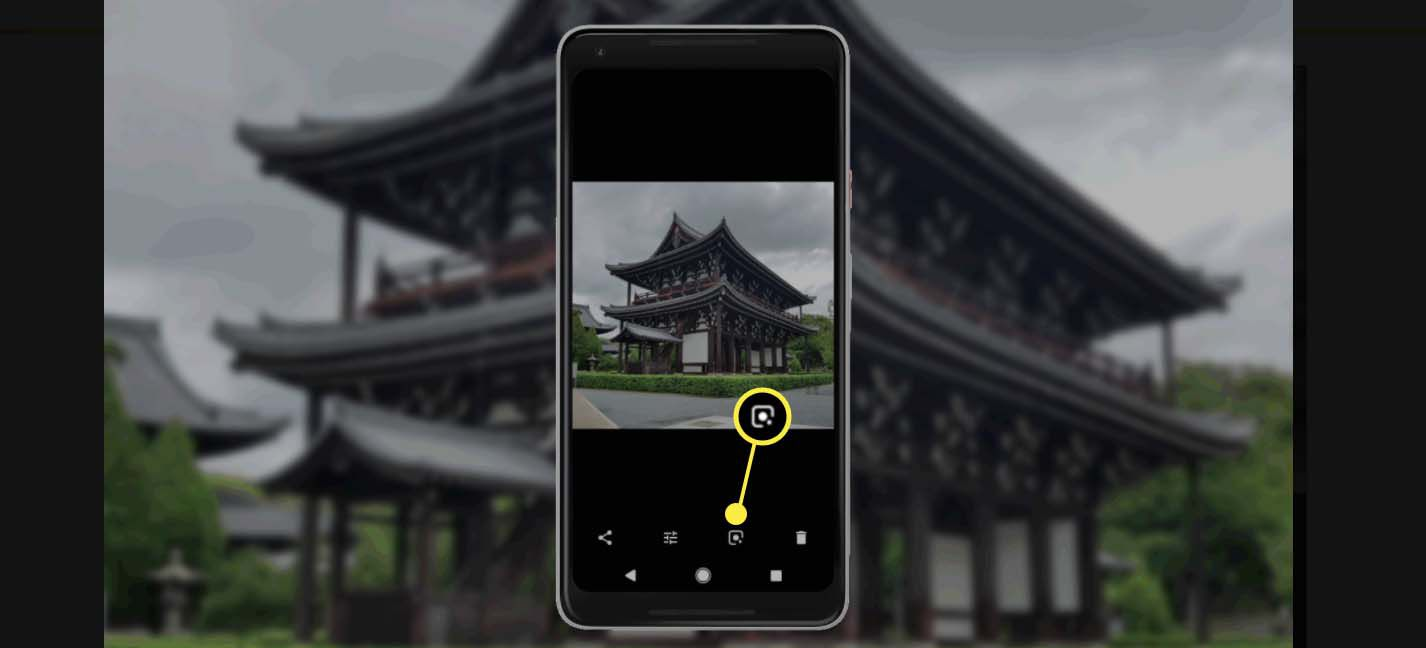 Google lens icon on Android