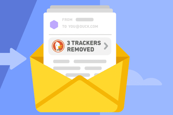 DuckDuckGo illustration of removing email trackers