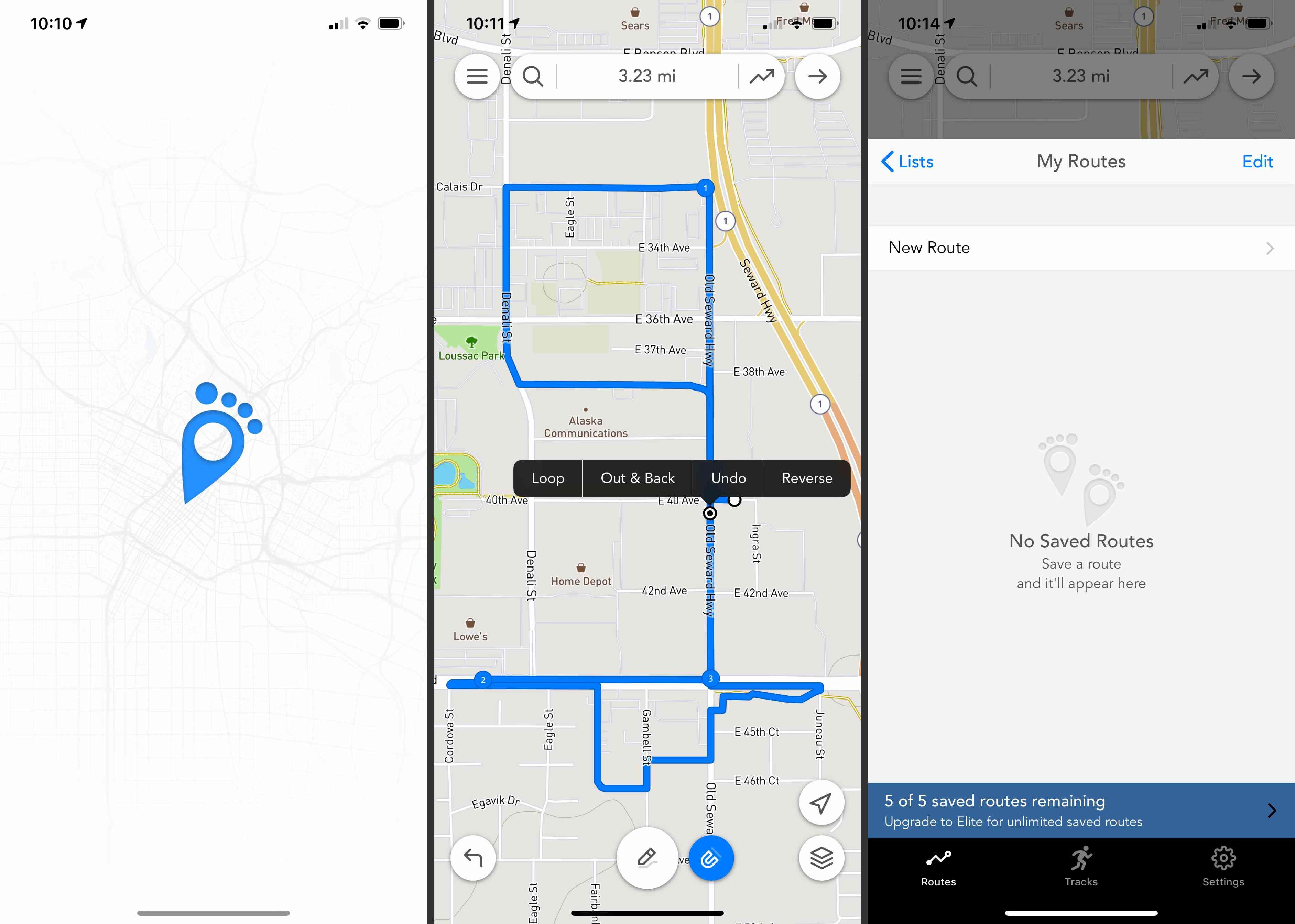 Footpath Route Planner app