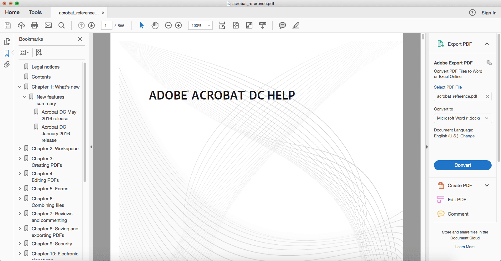 adobe dc pdf to word
