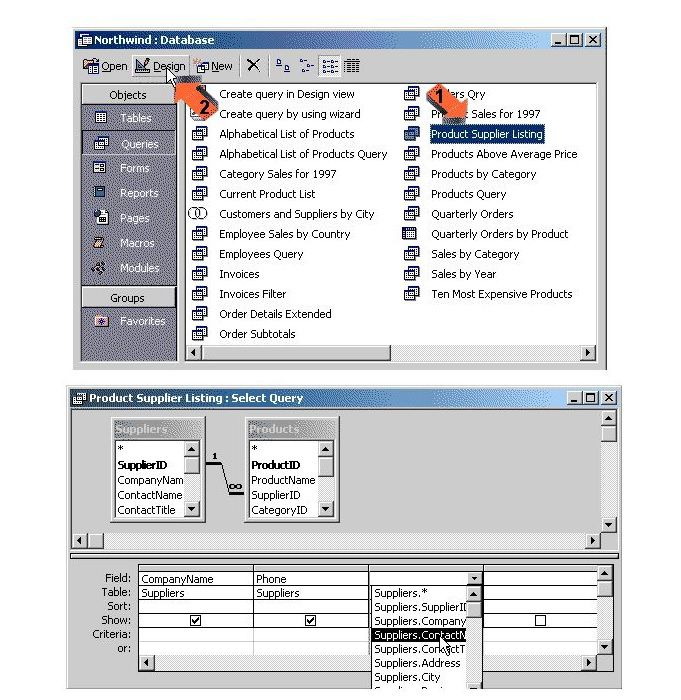 Modifying A Query In Microsoft Access - Invoice software microsoft access