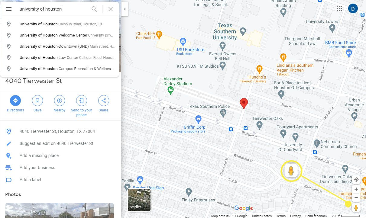 Pegman icon on Google Maps in the lower-right corner