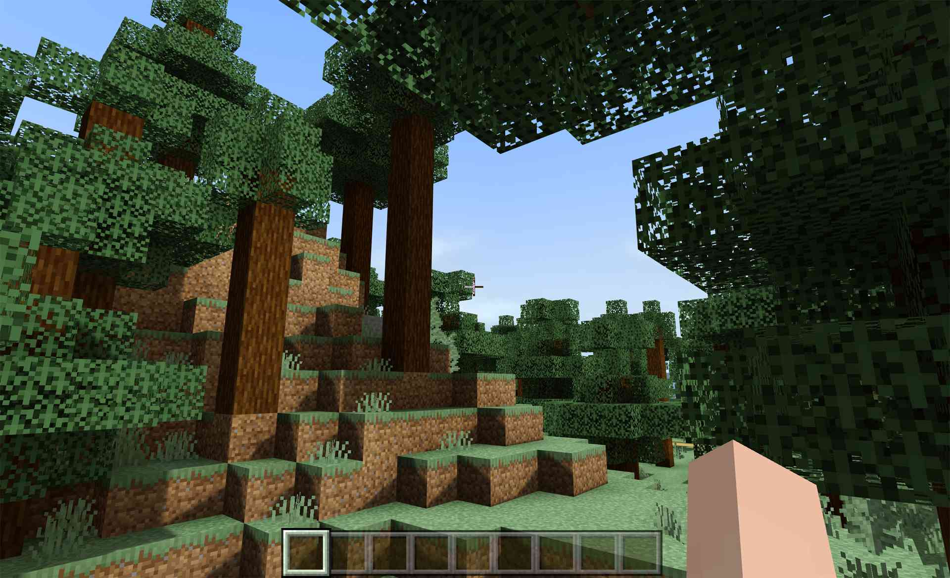Minecraft shaders installed on the Minecraft video game on Windows 10.