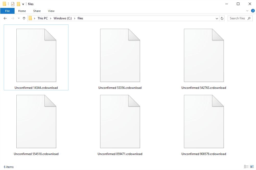 CRDOWNLOAD files in Windows 10