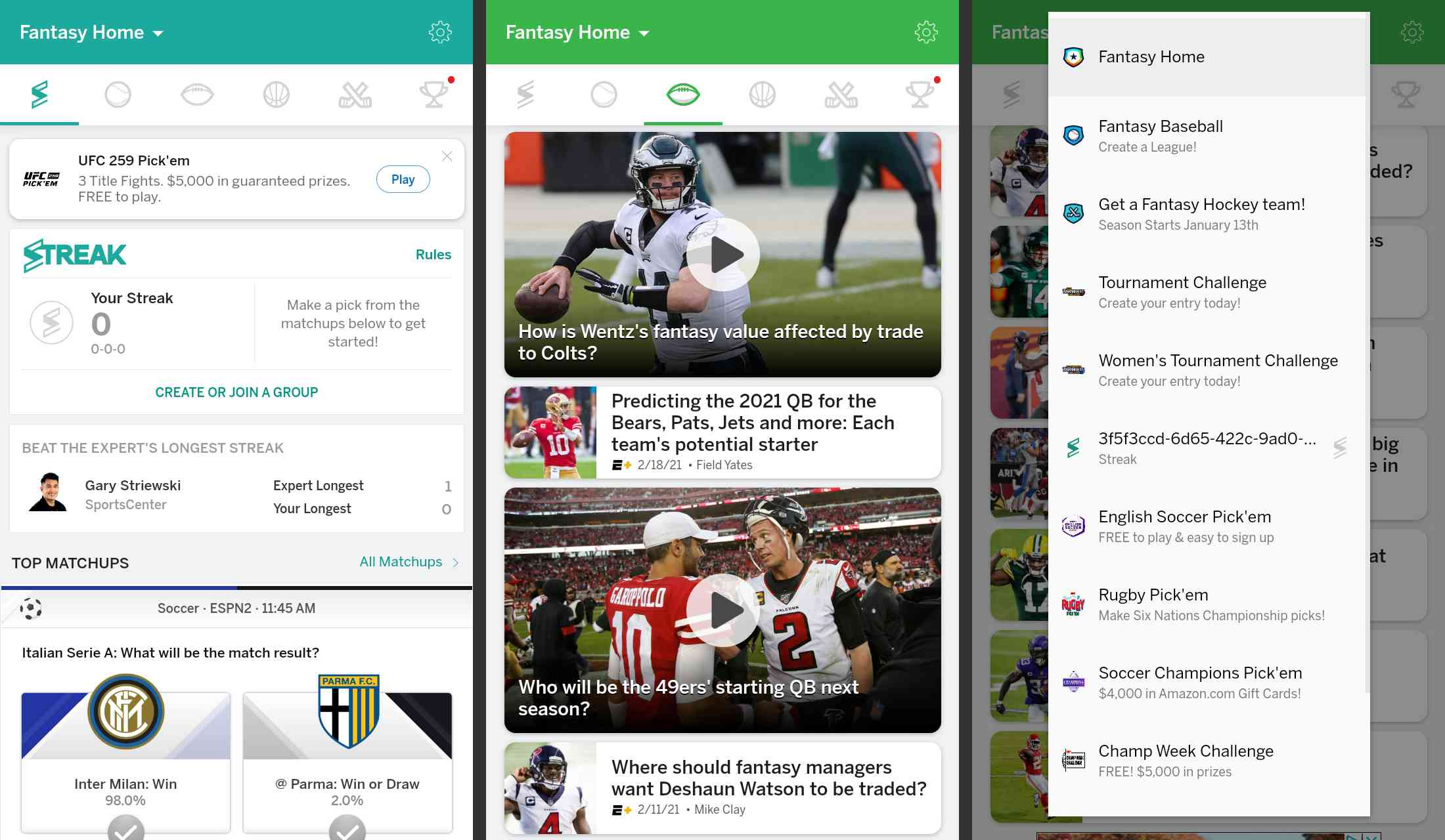 NFL Fantasy Football app for Android