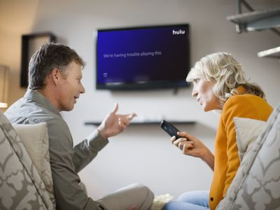 Hulu isn't working on a TV while a couple argues.