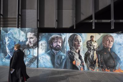 Game of Thrones advertisement in Melbourne