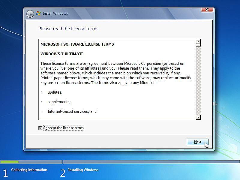 windows installer windows 7 reinstall