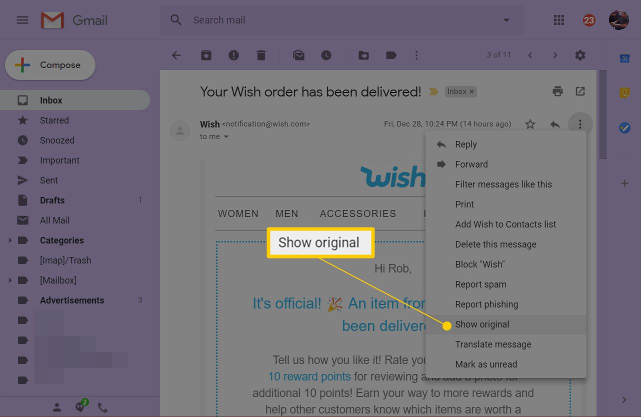 How to Save a Gmail Message as an EML File