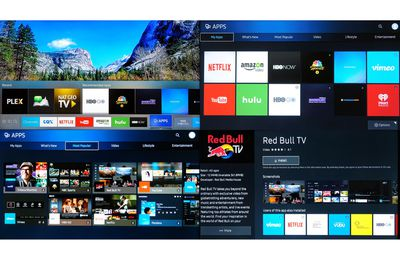 Samsung Simplified Smart TV Hub and Apps Menus Example