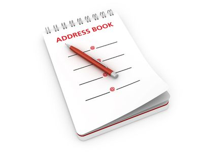 Notepad with Address Book and Pen