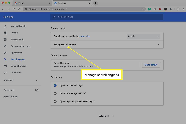 Chrome app settings