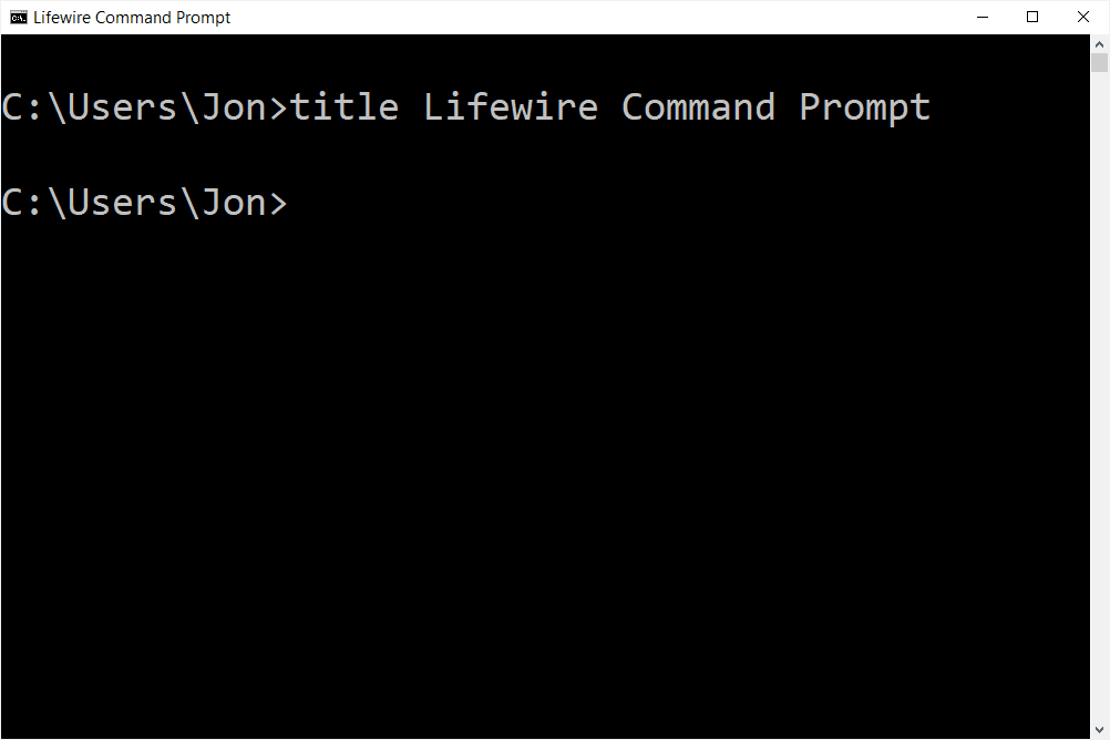 custom title bar on a Command Prompt window
