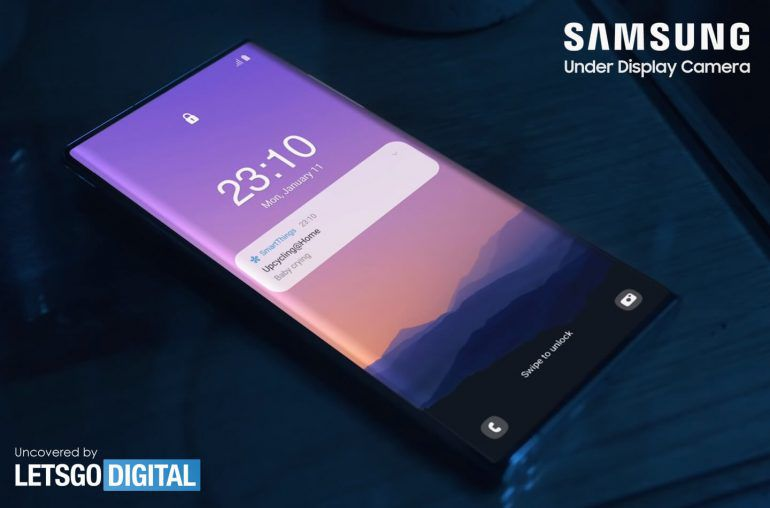 Samsung Galaxy Note 21 Ultra under-display camera render