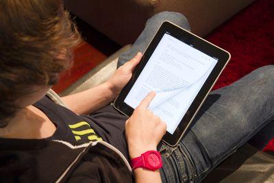 Boy using an Ipad©