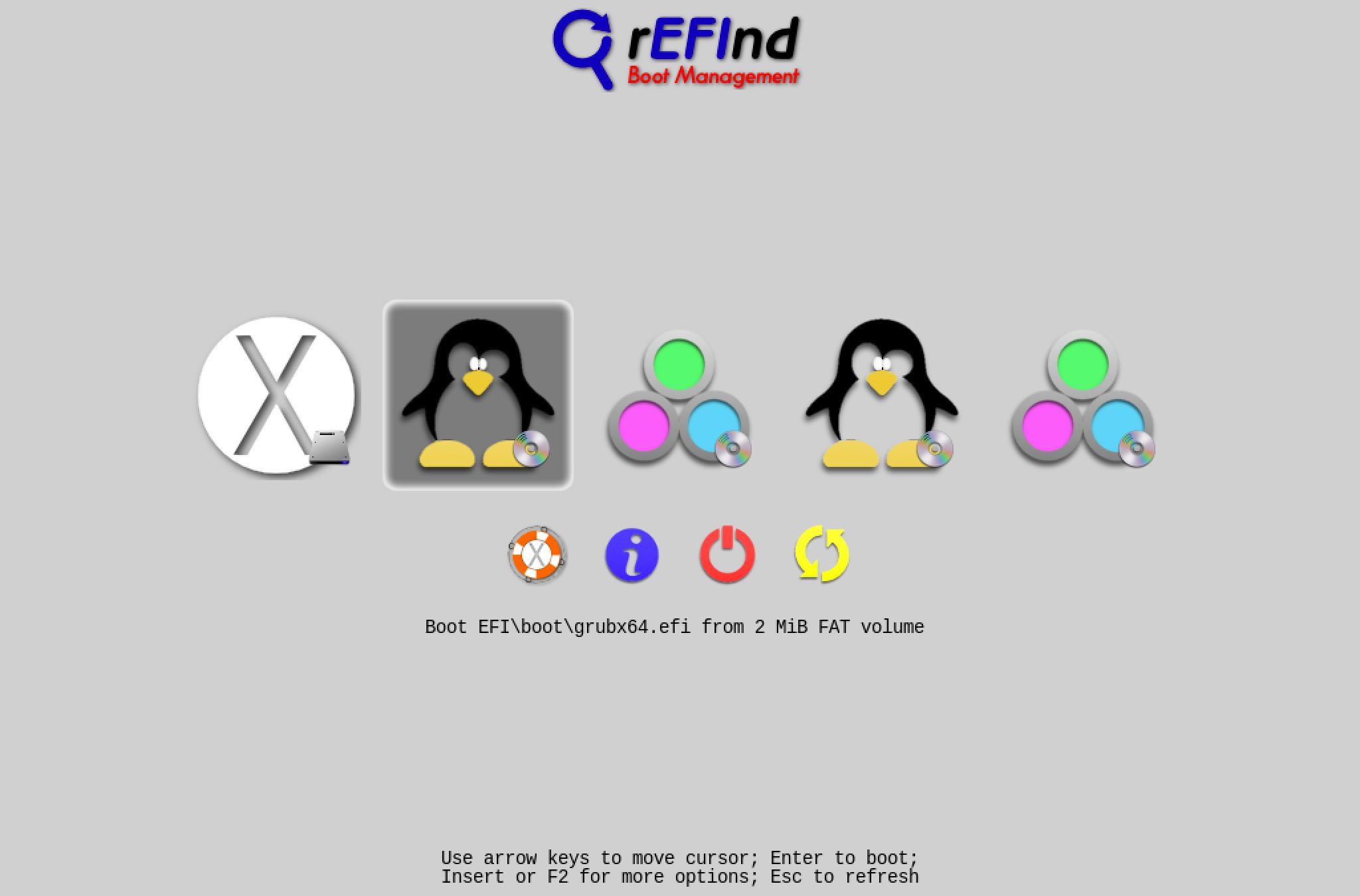 rEFInd boot manager for Mac OS