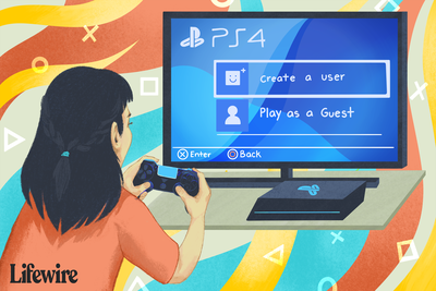 Illustration of a gamer creating a new PS4 User account