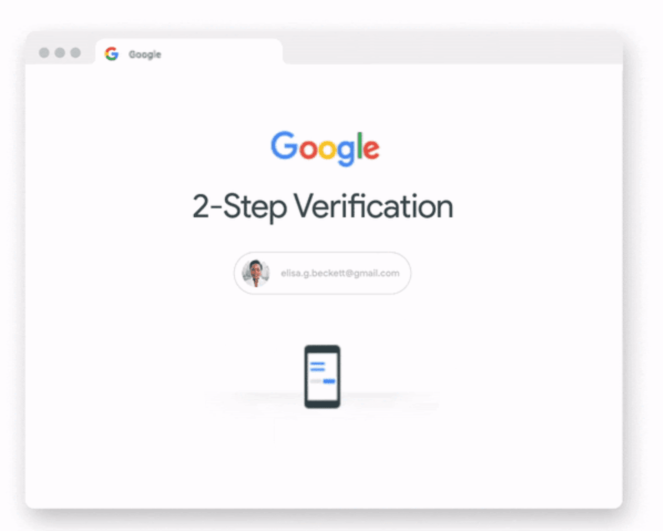 2SV when signing into a Google account
