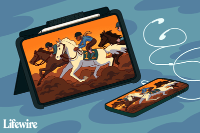 Belmont Park on a tablet and smartphone