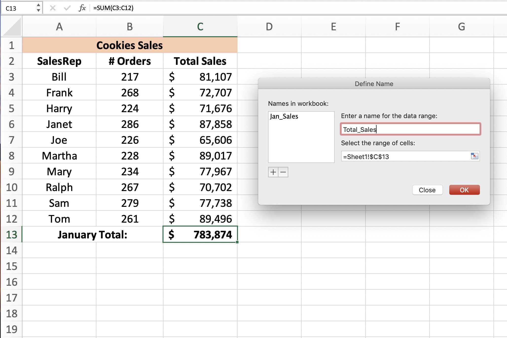 How to Define and Edit a Named Range in Excel