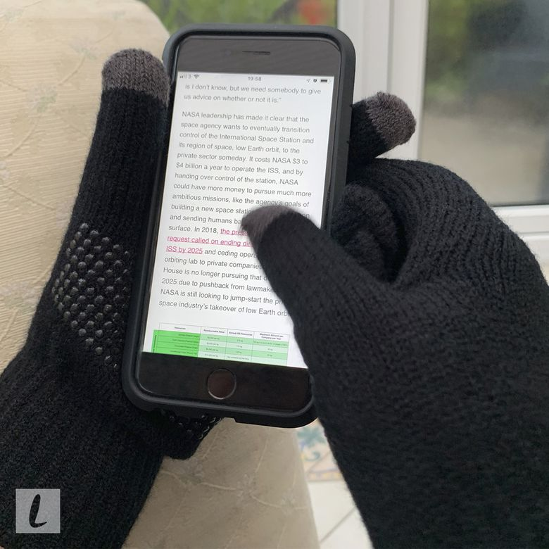 Lethmik Non-Slip Touchscreen Gloves