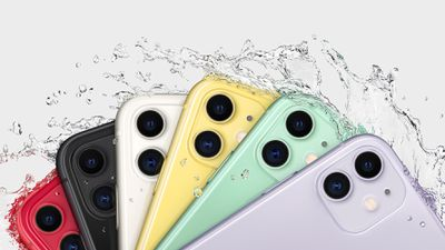 iPhone 11 models in six colors