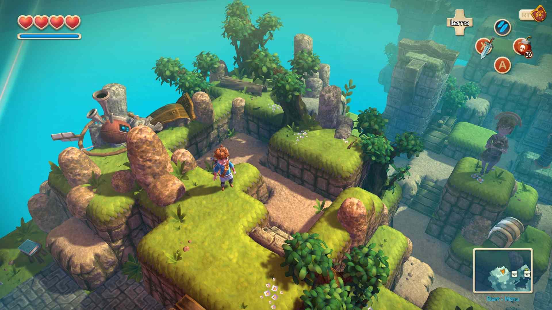 Screenshot of the action-RPG Oceanhorn