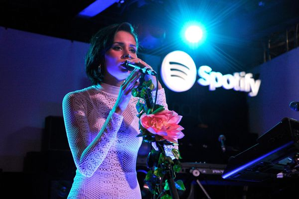 """Nina Nesbitt performs onstage at Spotify's """"Louder Together"""" event"""