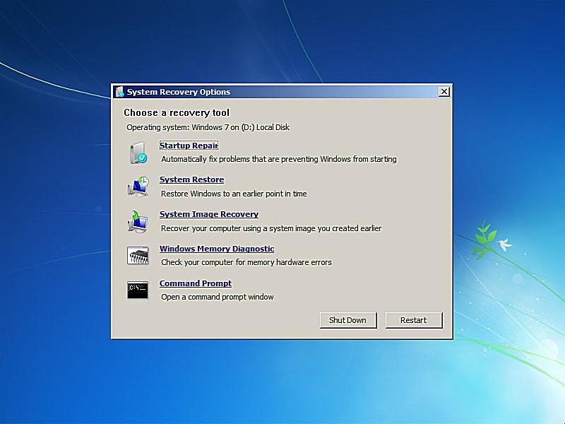 Repair Windows 7 Using the Startup Repair Tool